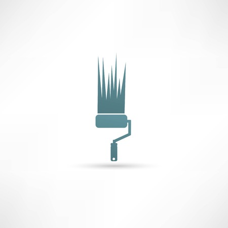 farbrolle: Paint roller icon Illustration