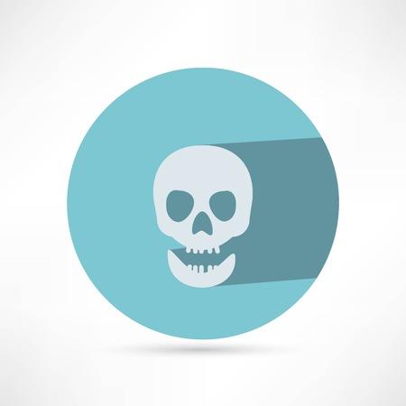 skull icon: Skull icon isolated.