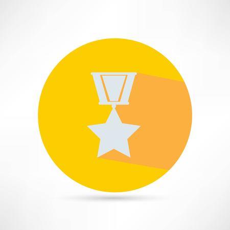 golden medal isolated Illustration
