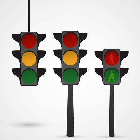 Traffic lights icon vector Vector