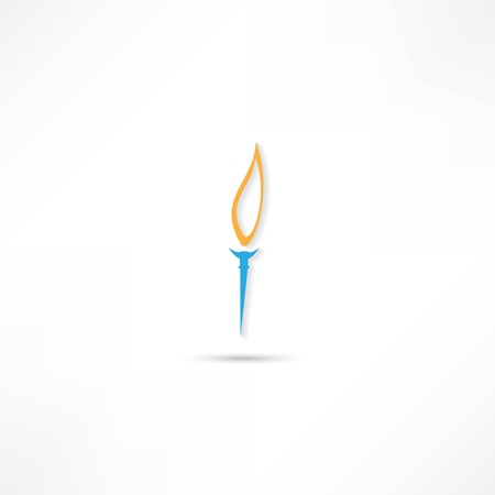 Burning torch icon Stock Vector - 25018801
