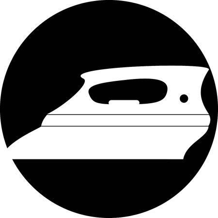 plancha de vapor: Icono del hierro de vapor Vectores