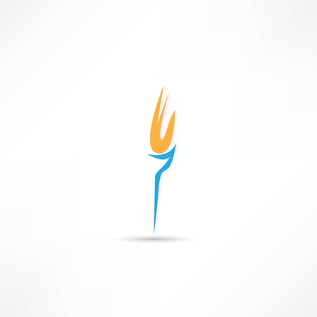 Burning torch icon Stock Vector - 25018878