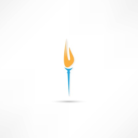 Burning torch icon Stock Vector - 25018879