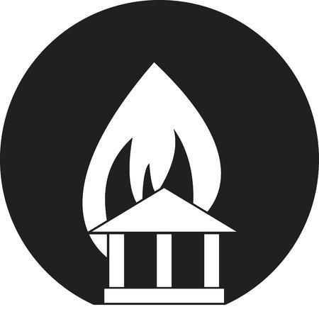 arson: fire warning Illustration