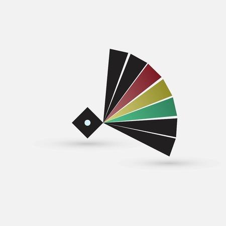 colored circle icon Illustration