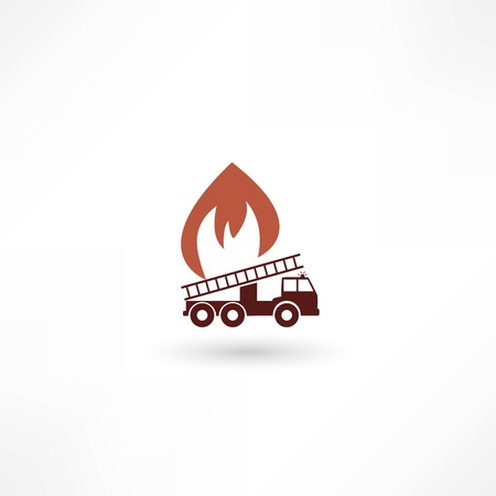 Vector illustration of a fire engine Vector