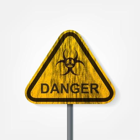 poison arrow: Radiation hazard warning sign