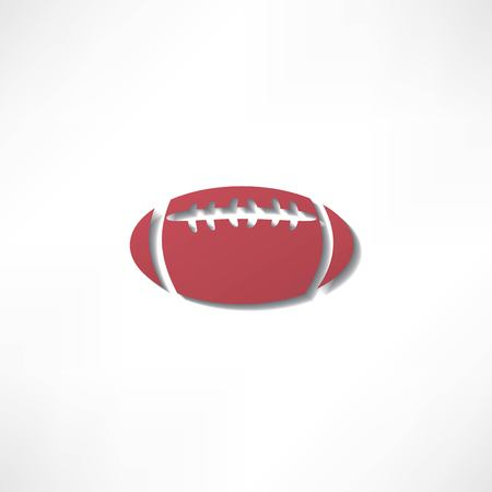american football icon isolated on white background Vector