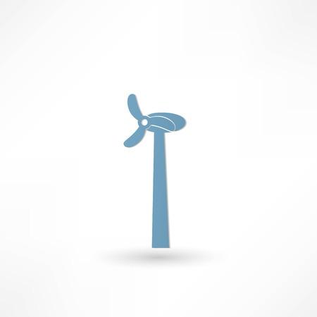 windfarm: Wind Turbine Icon Vettoriali