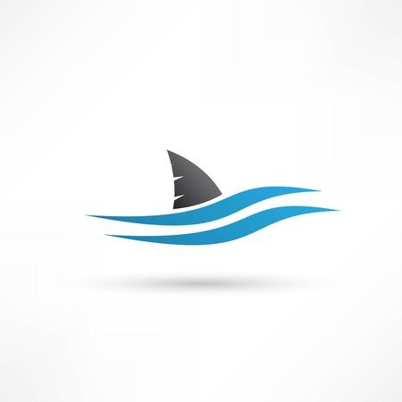 サメのアイコン  イラスト・ベクター素材