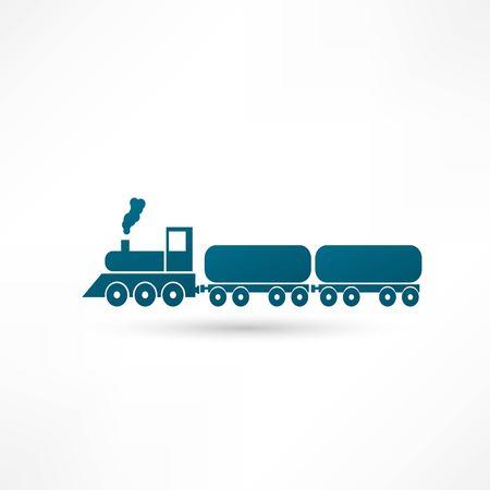 railroad crossing: Train vector