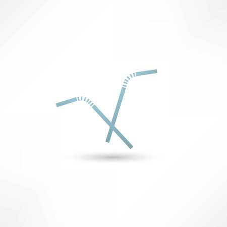 colorful straw: Drinking straw icon