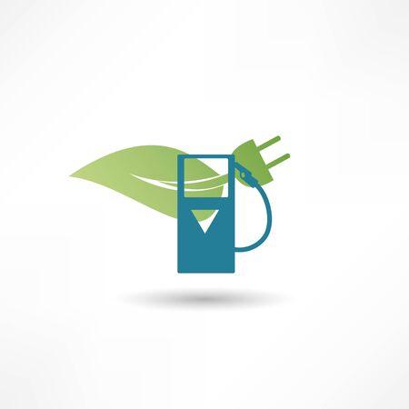 Vert signe concept énergétique Banque d'images - 27388870
