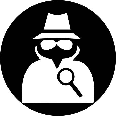 spy icon Illustration