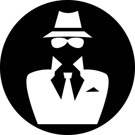 Espía icono Foto de archivo - 27388610