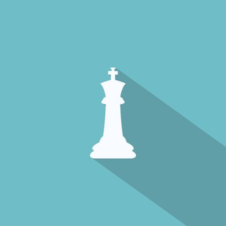 chess knight icon with long shadow