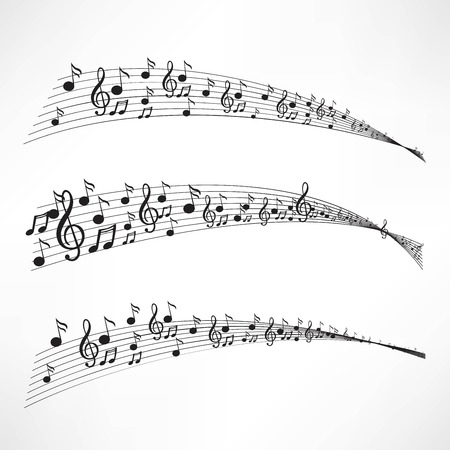 crotchets: Various music notes on stave