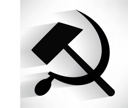 hammer and sickle: sickle hammer icon Illustration