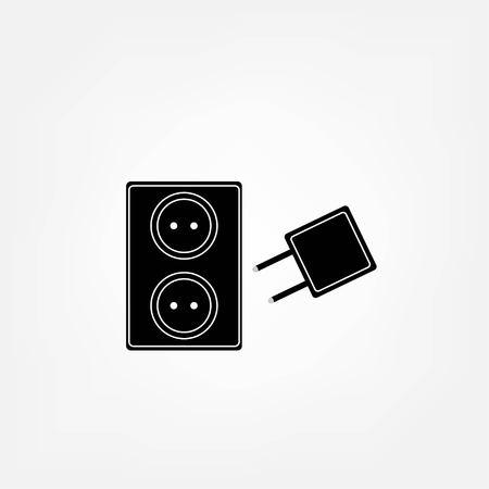 plug electric: Icono de enchufe el�ctrico