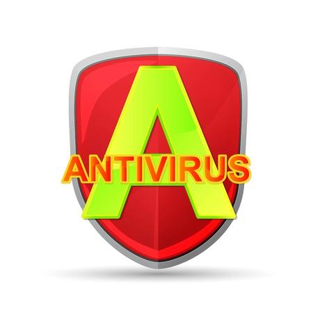 cyber defence: antivirus icon Illustration