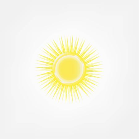 rooster and morning sun: sun icon