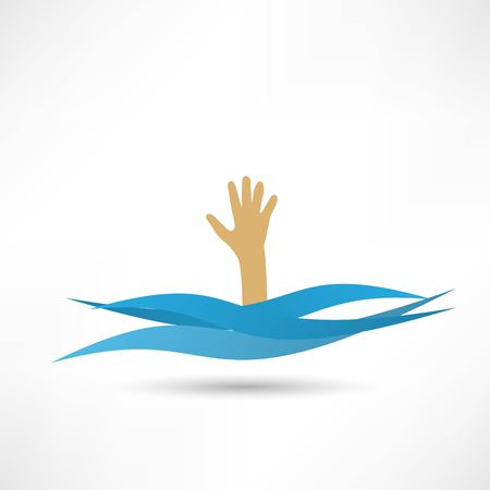 drown: Drowning and reaching out hand for help