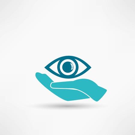Eye Protection or Eye Doctor Concept Illustration