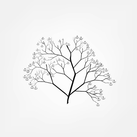 anchored: anchor tree Illustration