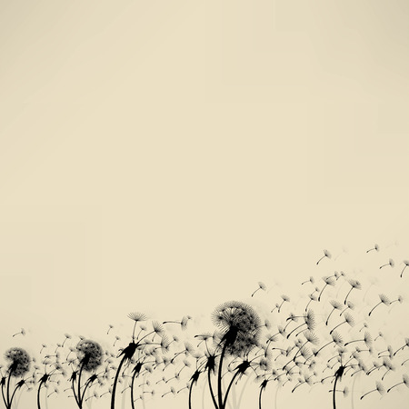 blowing: blowing dandelion vector