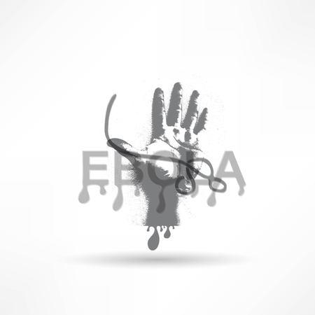 mortale: mortale epidemia di virus ebola Vettoriali