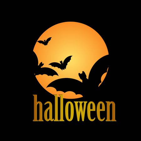 halloween message: Happy Halloween message design background Illustration