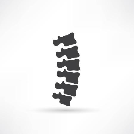 Wervelkolom diagnostiek symbool ontwerp