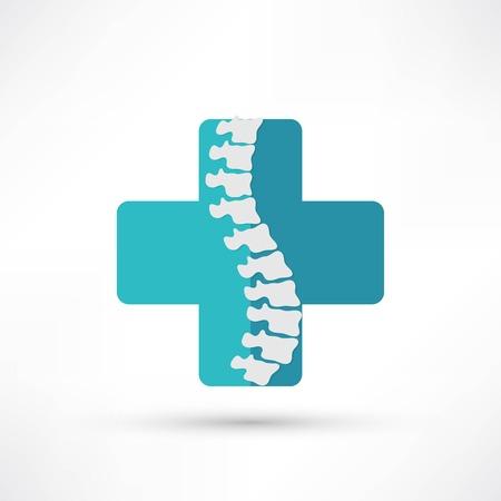 sintoma: Diagn�stico da coluna s�mbolo de design Ilustra��o