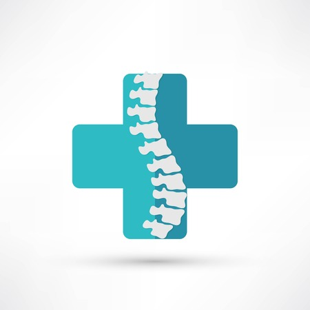 massage symbol: Spine diagnostics symbol design