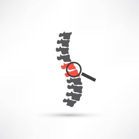 Diagnostyka kręgosłupa symbol projektu