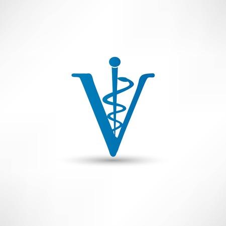 caduceus veterinary symbol: Veterinary sign
