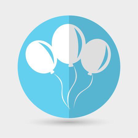aerostatics: balloon icon on a white background