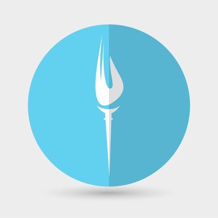 burning: Burning torch icon
