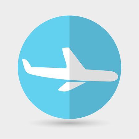 flight steward: airplane symbol on a white background