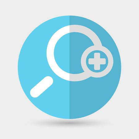 investigate: Magnifying glass icon Illustration