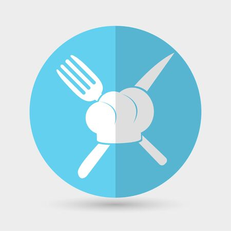 flavored: chef hat icon on a white background