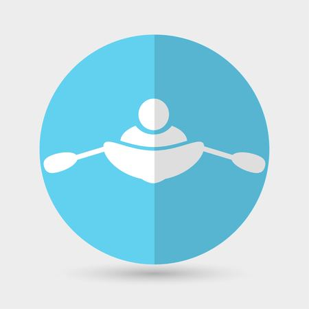 sculling: rowing boat icon