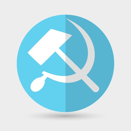 sickle: sickle hammer icon Illustration