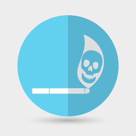 pernicious: Cigarette icon on a white background
