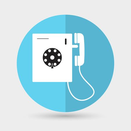 mobil: phone icon on a white background Illustration