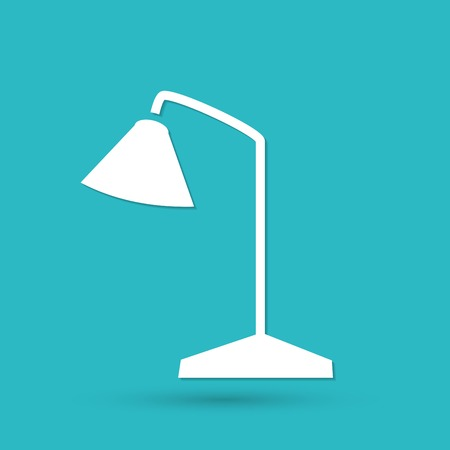 table lamp: Table Lamp Icon Illustration