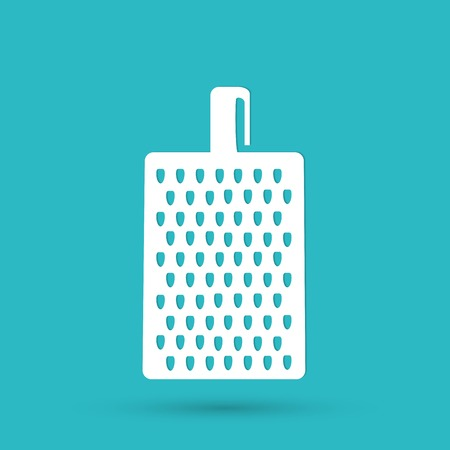 grater: grater for vegetables and fruits icon Illustration