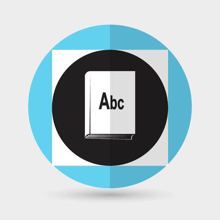 astute: Book icon on a white background