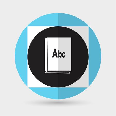 Book icon on a white background